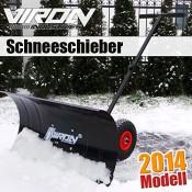 Schneeschieber mit Rädern Schneeschaufel Schneepflug Schneefräse Schneeschild